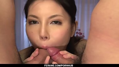 Full passion in threesome for Sofia Takigawa - - More at Slurpjp.com