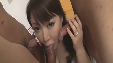 Double pleasure for the busty Asian wife, Hinata K - - More at Slurpjp.com