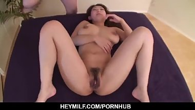 Marin Koyanagi goes down on cock during toy porn - More at Japanesemamas.co