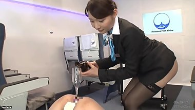 Japanese Airline First Class Drink Service - AssCache Highlights