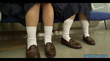 Jav Idol Kamiya Mitsuki Gets Massive Bukkake Drenched In Cum At School