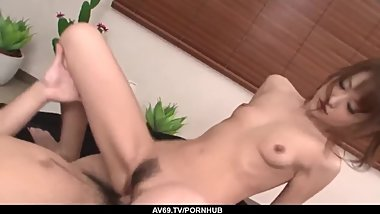 Intense sex scenes with slim Japanese Rika Kurachi - More at 69avs com