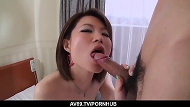 Gorgeous Miki Uemura plays with cock in amazing sc - More at 69avs com