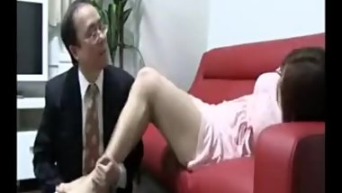japanese feet massaged ane tickled