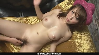 Stunning and horny Asian babe playing with cock an - - More at Slurpjp.com