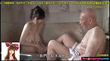 japanese grandpapa just fucked her cute 18yo granddaughter up in the house