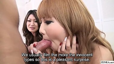 Uncensored JAV topless gyaru handjob and blowjob Subtitles
