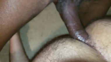 Black breed white hairy ass