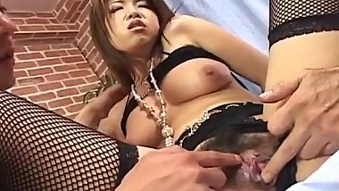 Reiko Yabuki sensual fantasy with two men while on cam - More at javhd.net