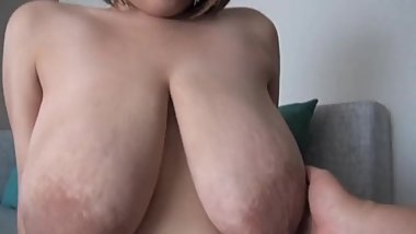 BBW japanese babe with huge saggers