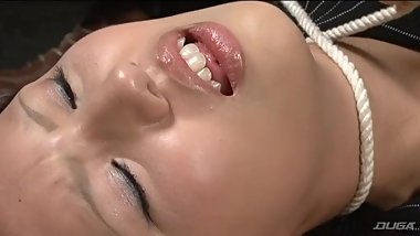 Japanese beauty girl strangled