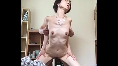 Skinny asian granny fucked hard