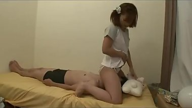 Teen japanese masturbates on face guy and pisses on him