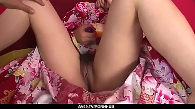 Sensual oral toy porn before sex for naughty Chiha - More at 69avs.com