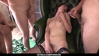 Mei Naomi fucked and made to suck cock for - More at Japanesemamas.com