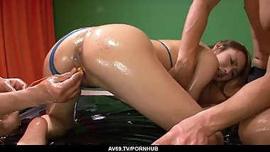 Sexy Luna amazing porn with two men while naked - More at 69avs.com