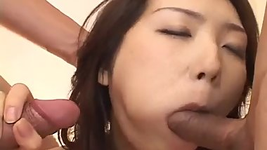 Hatsumi Kudo enjoys two tasty dicks in her tiny - More at hotajp.com