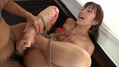 Milf wife desperate for restraint blowjob