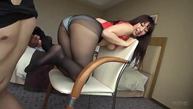 japanese pantyhose footjob and sex