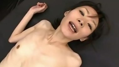 anorexic japanese working out and fucking
