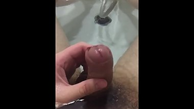 Japanese chub cum in bathtub