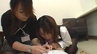 Japanese Double Girl Blowjob