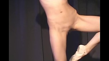 Japanese Nude Ballet Dancer in Ballroom