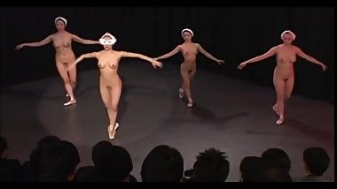Japanese Nude Ballet Stage Performance