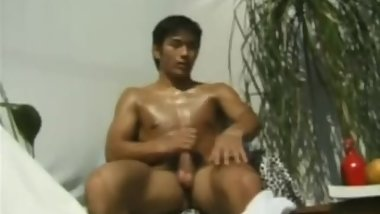 Japanese Athlete Jerk Off