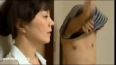 Perverted Japanese Step-Son Fucking mother and sister