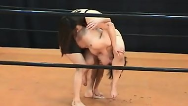 japanese queen femdom (Wrestling&domination&anal-licking)