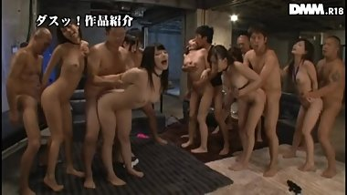 Ai Uehara Orgy and Bukkake Party