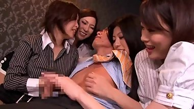 Japanese Orgy Group Office Boss Theersome