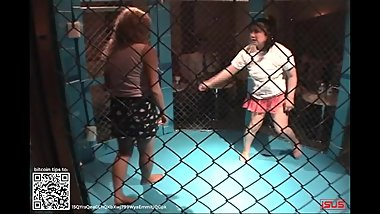 Wrestling 0012 Japanese Girl Cage Match